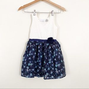 Children's Place Floral Lace Sleeveless Dress 5T